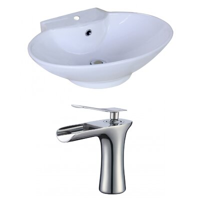 Oval Vessel Bathroom Sink with Overflow