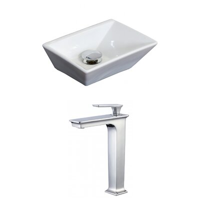 Emily Above Counter Rectangular Vessel Bathroom Sink
