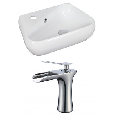 Specialty 19 Wall Mount Bathroom Sink with Overflow