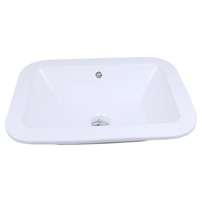 Rectangle Vessel Drop 22 Single Bathroom Vanity Top