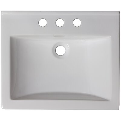 21 Single Bathroom Vanity Top Faucet Mount: 4 Center