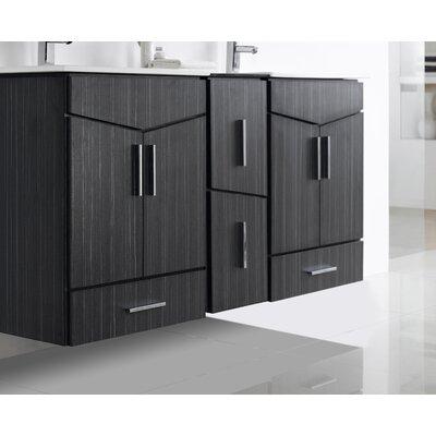 Zen Modern Wall Mount 58 Bathroom Vanity Base