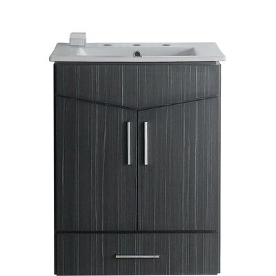 Keels 36 Rectangle Single Bathroom Vanity Set Faucet Mount: 8 Center