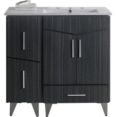 Kapp Glazed Floor Mount 35.5 Single Bathroom Vanity Set