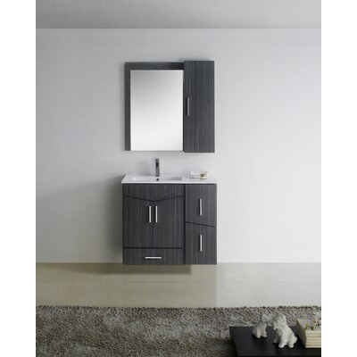 Zen Modern Wall Mount 35 Vanity Base