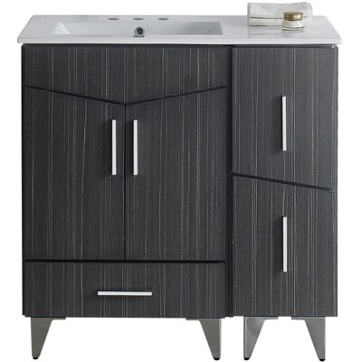 Kapp Wood Floor Mount 35.5 Single Bathroom Vanity Set