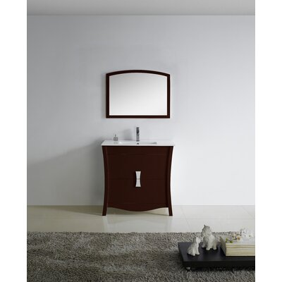 Bow 35 Bathroom Vanity Set Faucet Mount: Single
