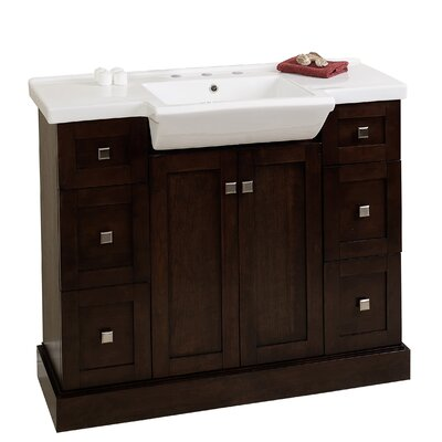 Prelude 40 Bathroom Vanity Set Faucet Mount: 8 Center