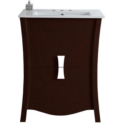 Cataldo Glazed Floor Mount 23.75 Single Bathroom Vanity Set