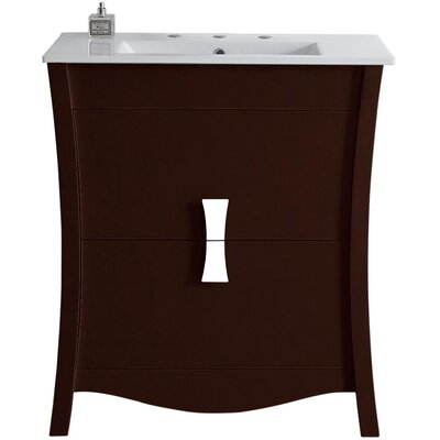 Cataldo Wood Floor Mount 30 Single Bathroom Vanity Set