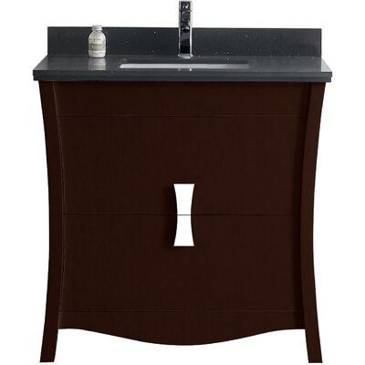 Bow 35 Single Bathroom Vanity Set Faucet Mount: Single