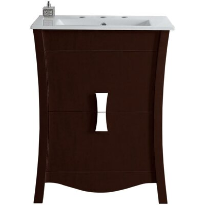 Cataldo Wood Floor Mount 23.75 Single Bathroom Vanity Set