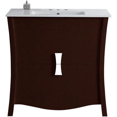 Cataldo Wood Floor Mount 35.5 Single Bathroom Vanity Set