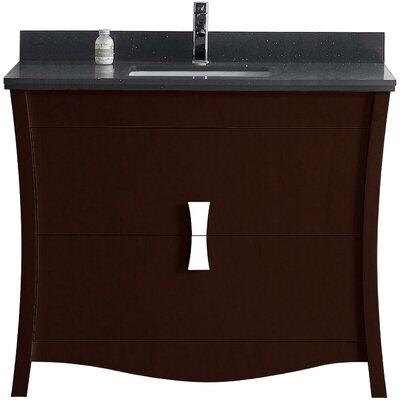Bow 47 Single Bathroom Vanity Set Faucet Mount: Single