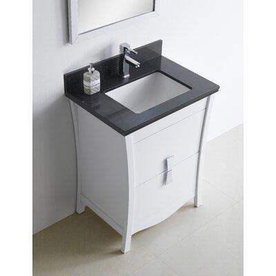 Bow 24 Single Bathroom Vanity Set Faucet Mount: Single