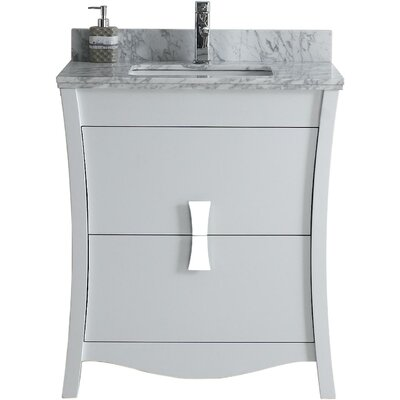 Bow 29.45 Single Bathroom Vanity Set Faucet Mount: Single