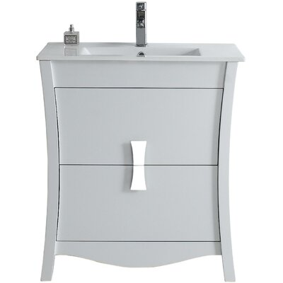 Bow 30 Bathroom Vanity Set Faucet Mount: Single