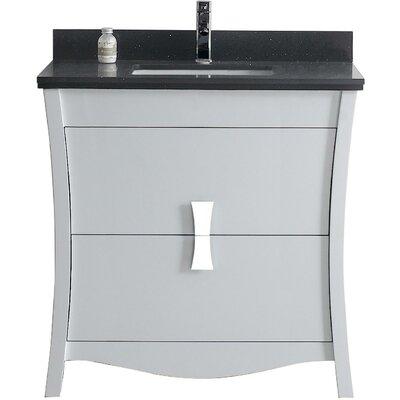 Bow 35.35 Single Bathroom Vanity Set Faucet Mount: Single