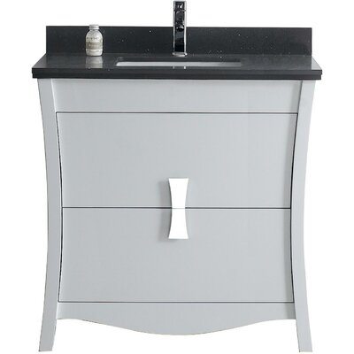 Bow 35.35 Single Bathroom Vanity Set Faucet Mount: Single