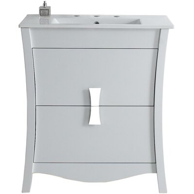 Cataldo Modern Wood Floor Mount 30 Single Bathroom Vanity Set
