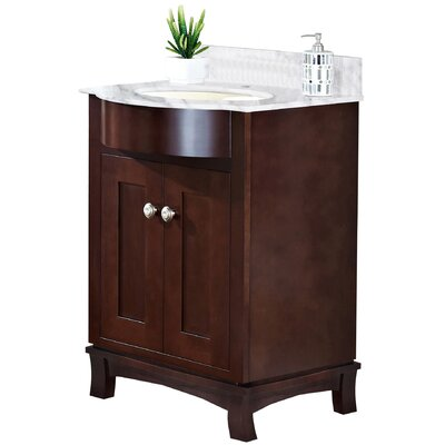 Kester 24 Bathroom Vanity Sink Finish: Biscuit, Faucet Mount: Single
