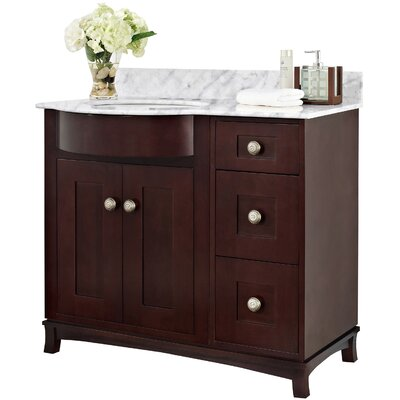 Kester 36 Bathroom Vanity Top Finish: White, Faucet Mount: 4 Center