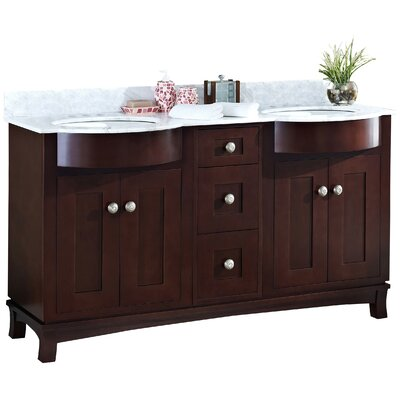 Kester 60 Wood Bathroom Vanity Sink Finish: White, Faucet Mount: 4 Center