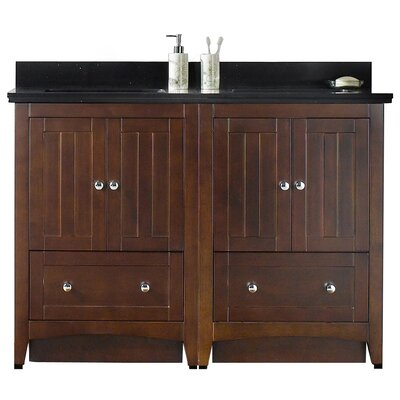 Nixon Floor Mount 47.5 Double Bathroom Vanity Set