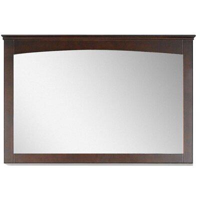 Modern Wood Mirror Finish: Walnut, Size: 31.5