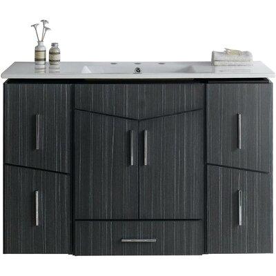 Kapp Modern Wall Mount 48 Single Bathroom Vanity Set Faucet Mount: 8 Centers