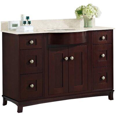 Kimbrough Floor Mount 49.5 Single Bathroom Vanity Set Faucet Mount: 4 Centers