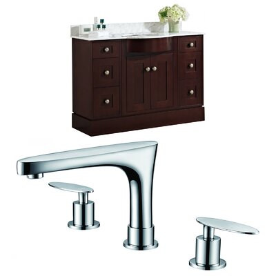 Kester 48 Single Bathroom Vanity Set Sink Finish: Biscuit