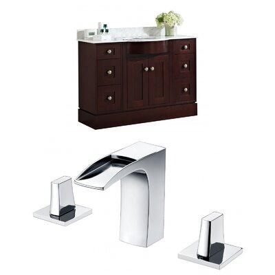 Tiffany 48 Single Bathroom Vanity Set Sink Finish: White