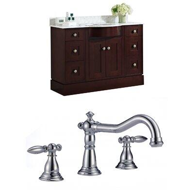 Kester 48 Rectangle Single Bathroom Vanity Set Sink Finish: Biscuit
