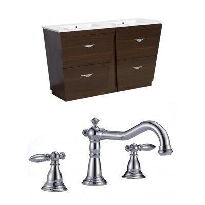 Vee 48 Double Bathroom Vanity Set