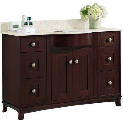 Kimbrough Floor Mount 49.5 Single Bathroom Vanity Set Faucet Mount: 8 Centers