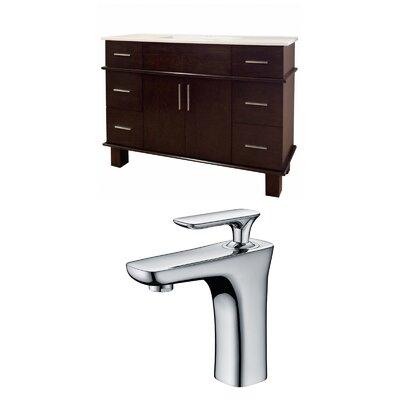 Alum 48 Single Bathroom Vanity Set