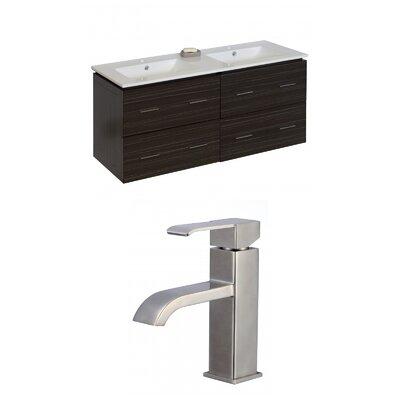 Kyra 48 Glaze Double Bathroom Vanity Set