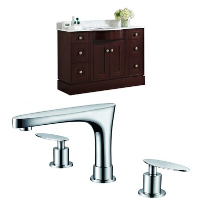 Kester 48 Single Bathroom Vanity Set Sink Finish: White