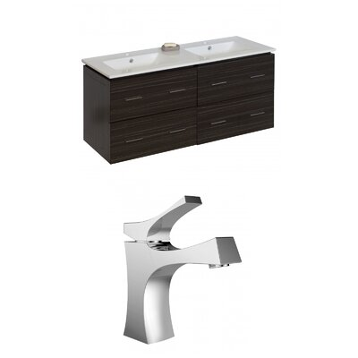 Kyra Modern 48 Multi-Layer Stain Double Bathroom Vanity Set