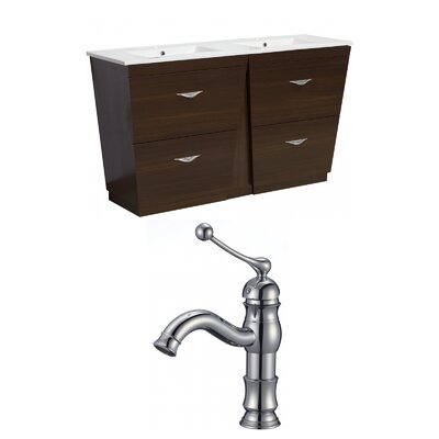 Vee 48 Double Bathroom Vanity Set