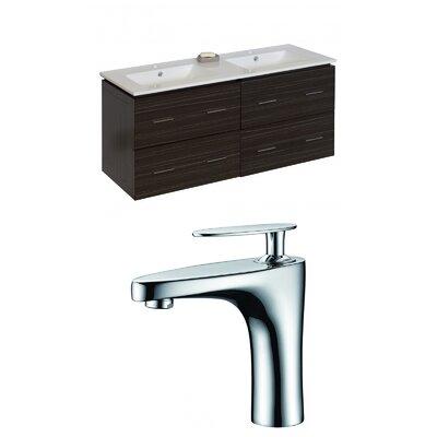 Kyra 48 Rectangle Double Bathroom Vanity Set