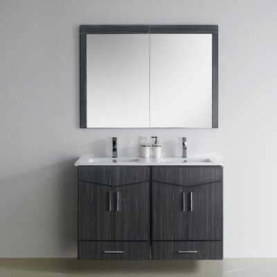 Zen 46 Modern Wall Mount Plywood-Melamine Vanity Base