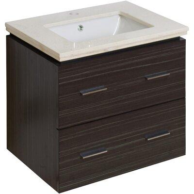Maryalice Wall Mount 23.75 Single Bathroom Plywood Vanity Set Sink Finish: White