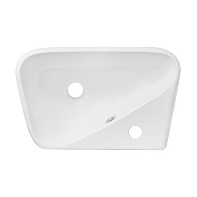 Above Counter Rectangular Vessel Bathroom Sink with Overflow Hardware Finish: Brushed Nickel