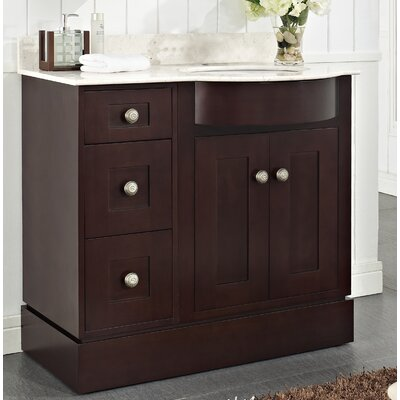 Kester 36 Wood Bathroom Vanity Top Finish: White, Faucet Mount: Single