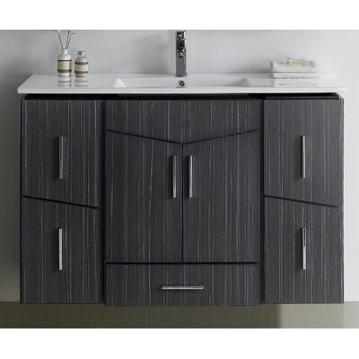 Zen 48 Modern Wall Mount Vanity Base Set