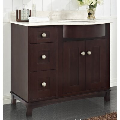 Kester 36 Rectangle Bathroom Vanity Top Finish: White, Faucet Mount: 8 Center