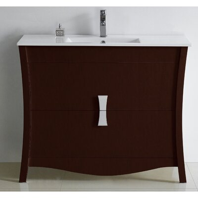 Bow 47 Modern Vanity Base Set Base Finish: Coffee