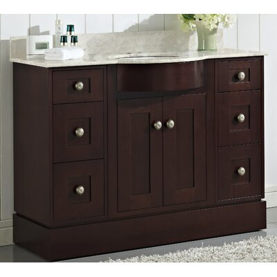 Kester Transitional 48 Wood Single Bathroom Vanity Set Faucet Mount: Single
